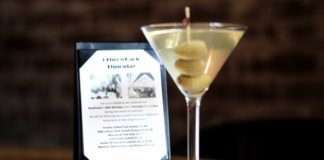 Martini at The Mayflower Hotel EDGAR Bar